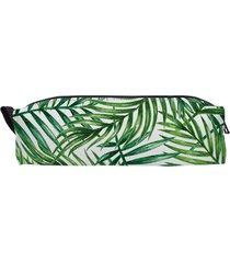 piórnik full print egzotyczny. liście palmy