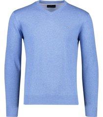 portofino katoenen trui v-hals frisblauw