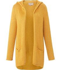 vest met capuchon en lange mouwen van lieblingsstück geel