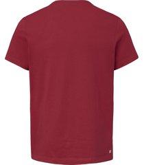 shirt met korte mouwen van lacoste rood