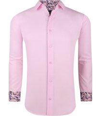 men's solid slim fit wrinkle free stretch dress shirt