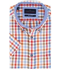korte mouwen overhemd portofino rood blauw