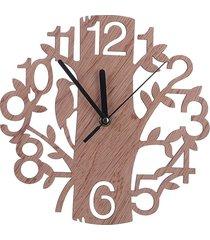 decoración de árbol hueco de madera redondo reloj de pared fuera salón