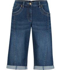 bermuda di jeans con cinta comoda (nero) - bpc bonprix collection