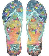 sandalias  havaianas slim ls cartagena 4145012 femenino
