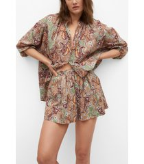 mango women's oversize cotton blouse