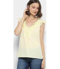 blusa top moda guipir renda feminina