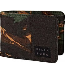 billetera hombre tides wallet verde billabong