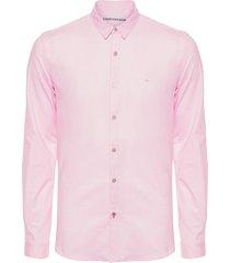 camisa masculina ckj slim piquet - rosa