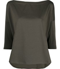snobby sheep boat-neck jersey-knit top - green