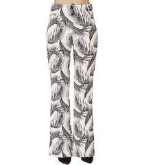 calça alfaiataria print folhagens handbook feminino