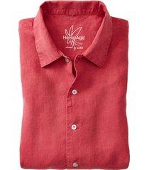 overhemd met korte mouw van hennep, rood xl