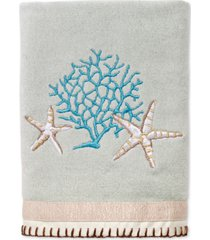 avanti beachcomber cotton embroidered hand towel bedding