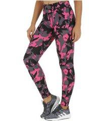 calça legging oxer estampa shape - feminina - rosa/preto
