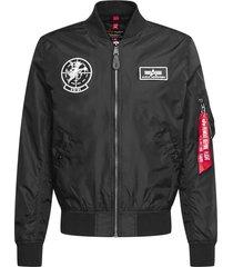 alpha industries black bomber jacket