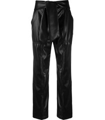 jonathan simkhai tie front trousers - black