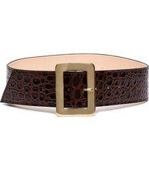 black & brown maria crocodile effect belt
