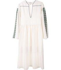 zeus+dione tunic style draped dress - white