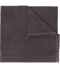 lady anne houndstooth-print scarf - brown