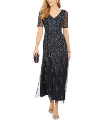 adrianna papell petite embellished dress