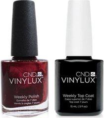 creative nail design vinylux crimson sash nail polish & top coat (two items), 0.5-oz, from purebeauty salon & spa