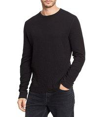 vince men's double-knit pullover - optic white - size xl