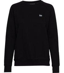 plain crew neck sws sweat-shirt tröja svart lee jeans