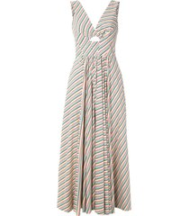 eva boquinhas striped dress - multicolour