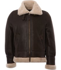 schott nyc lc1259 bombardier leather flying jacket - brown