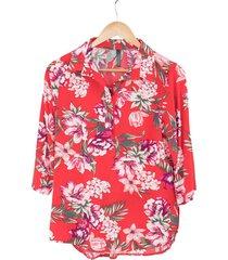 blusa chiffon flores bolero
