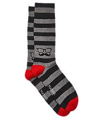 travel tech stripe & mustache socks, 1-pair