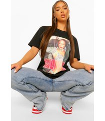 aaliyah photo license print t-shirt, black