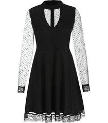 see thru mesh skater dress
