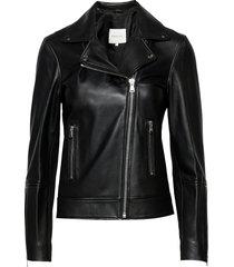carmela leather jacket leren jack leren jas zwart by malina