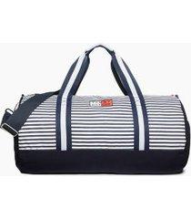 tommy hilfiger men's stripe duffle bag peacoat -