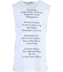 contrasting text tank top