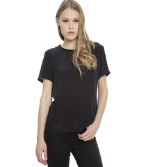 blusa calvin klein jeans negro - calce regular