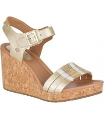 sandalia cuero dawn echo plateado sperry