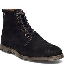 boxxie suede shoe snörade stövlar svart sneaky steve