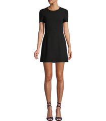 sundae whisper short-sleeve a-line dress