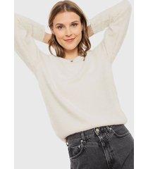 sweater vero moda poilu crudo - calce regular