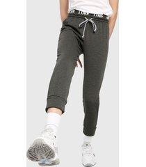 pantalón gris oscuro-negro-blanco active