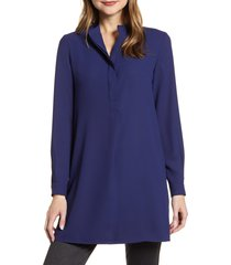 women's anne klein tunic shirt, size small - blue