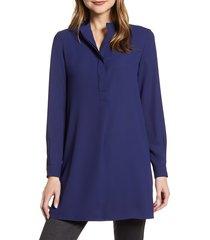 women's anne klein tunic shirt, size small - blue