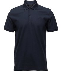 troy clean pique polos short-sleeved blauw j. lindeberg