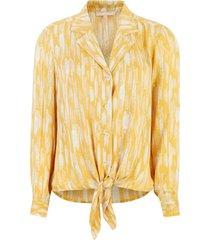 soft rebels blouse blaze ls tie printed,