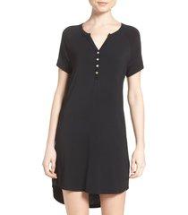 women's pj salvage sleep shirt, size medium - black