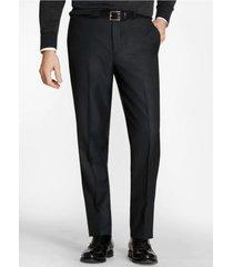 pantalón regent fit stretch wool negro brooks brothers