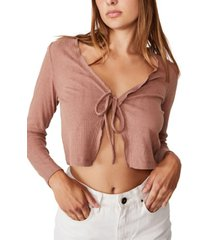 women's ava frill tie front cardigan