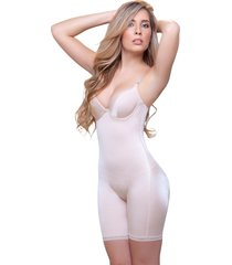 "beige full body shaper with underwire bra ""emilie"" 919"
